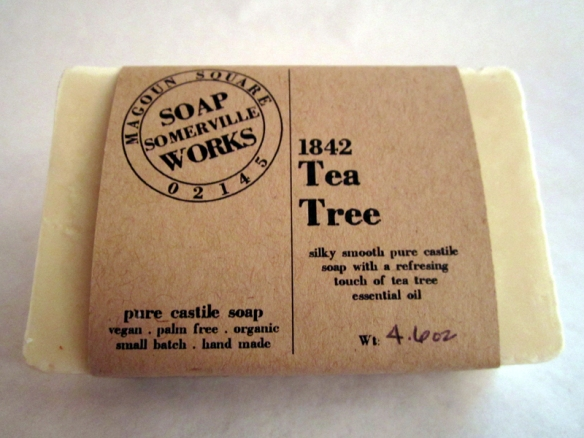 Right now I'm working with three 1842 soaps: Tea Tree, Peppermint and Lavender